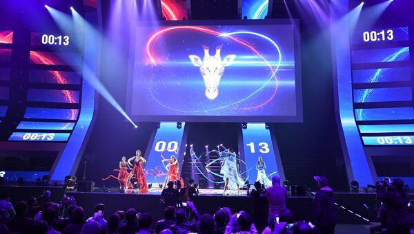 Шоу перед началом финального этапа гранд-финала по игре в World of Tanks в ВТБ Ледовый Дворец. Архивное фото