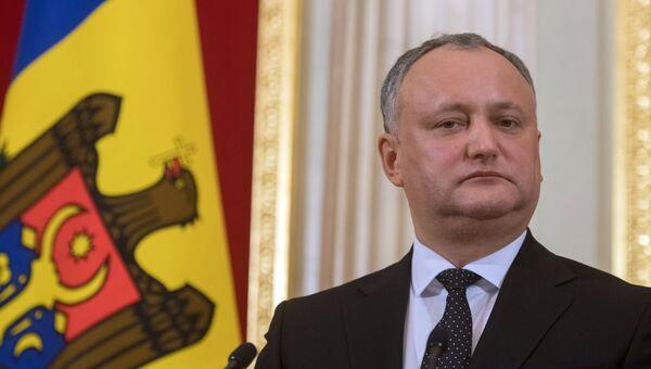 Президент Молдавии Игорь Додон. Архивное фото.