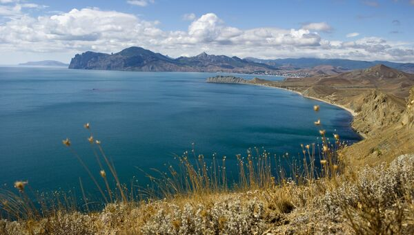 Мыс Хамелеон и гора Кара-Даг в Крыму