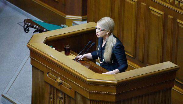 Лидер фракции ВО Батькивщина Юлия Тимошенко. Архивное фото