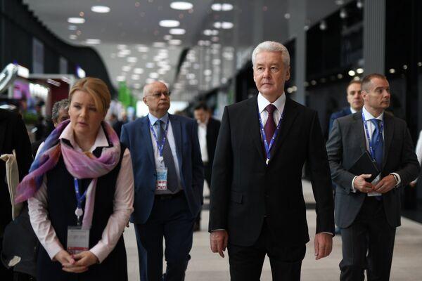 Мэр Москвы Сергей Собянин на Санкт-Петербургском международном экономическом форуме 2017