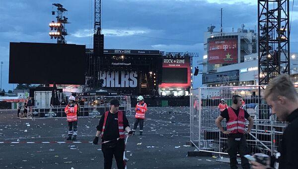 Эвакуация посетителей рок-фестиваля Rock am Ring