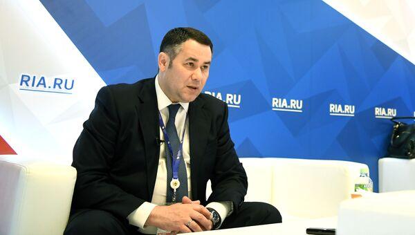 Губернатор Тверской области Игорь Руденя на Санкт-Петербургском международном экономическом форуме 2017