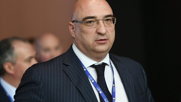 Генеральный директор ООО УК Металлоинвест Андрей Варичев на Санкт-Петербургском международном экономическом форуме 2017