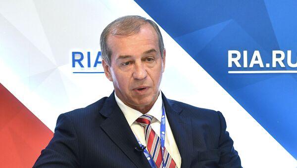 Губернатор Иркутской области Сергей Левченко на Санкт-Петербургском международном экономическом форуме 2017