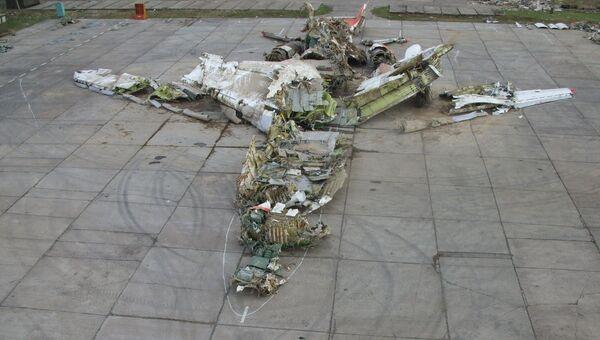 Обломки польского правительственного самолета Ту-154  разбившегося под Смоленском в 2010 году