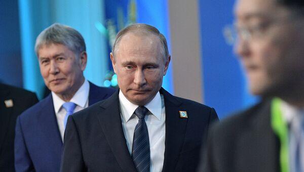 Президент РФ Владимир Путин перед началом заседания совета глав государств - членов ШОС. 9 июня 2017