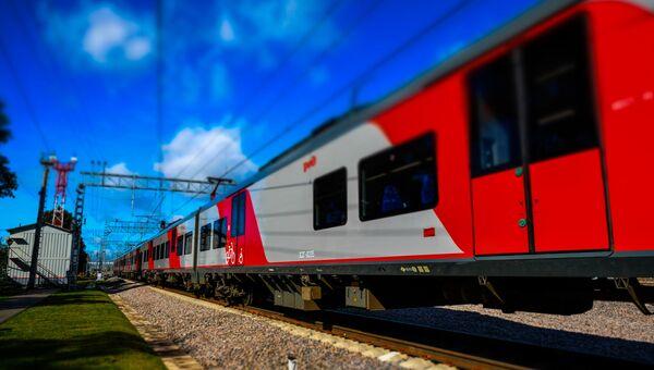 Электропоезд в Москве. Архивное фото