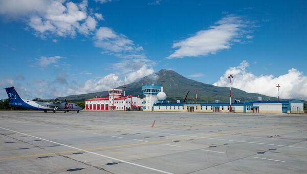 Аэропорт на южно-курильском острове Итуруп. Архивное фото