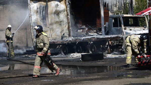 Пожар на складе в Ярославской области. 9 июня 2017