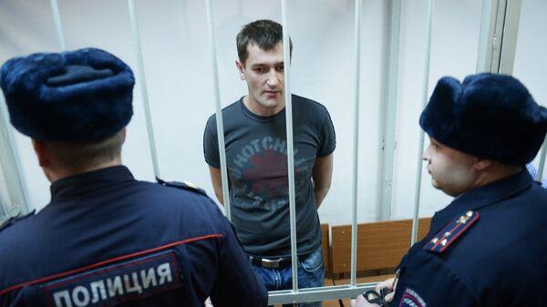 Олег Навальный во время оглашения приговора в Замоскворецком суде Москвы