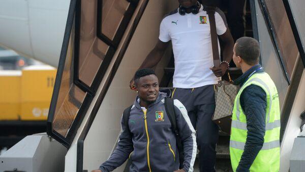 Игроки сборной Камеруна по футболу, прилетевшие с командой для участия в Кубке конфедераций 2017