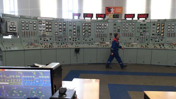 Главный щит управления ТЭЦ-12, расположенной на Бережковской набережной в Москве