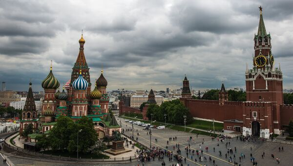 Вид на Собор Василия Блаженного в Москве