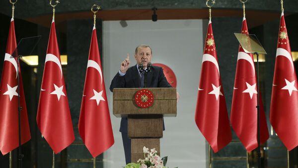 Президент Турции Тайип Эрдоган в  Анкаре. 15 июня 2017