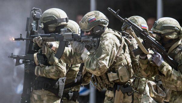 Показательные выступления спецподразделений правоохранительных органов РФ