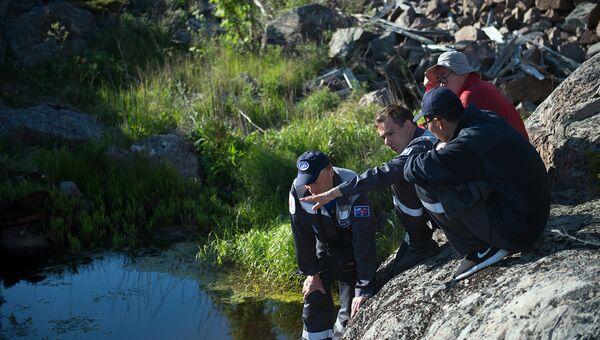 Участники экологической экспедиции на острове Соммерс