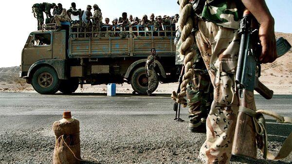 Солдаты армии Эритреи