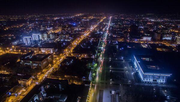 Вид на ночной Бишкек. Архивное фото