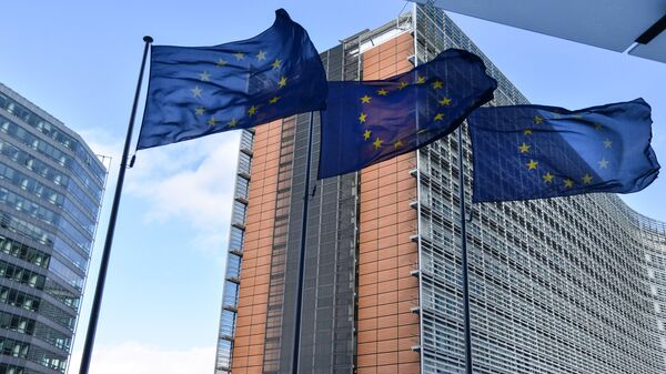 Флаги ЕС в Брюсселе. Архивное фото