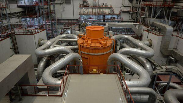 Центральный зал 4-го энергоблока с реактором БН-800 Белоярской атомной электростанции (БАЭС) в городе Заречный Свердловской области. Архивное фото