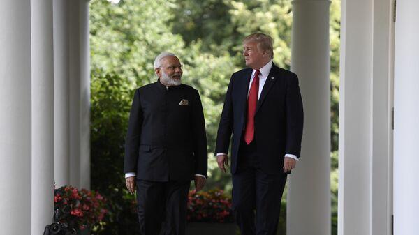 Президент США Дональд Трамп и премьер-министр Индии Нарендра Моди в Белом доме в Вашингтоне. 26 июня 2017