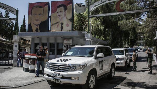 Инспекторы ООН по химоружию в Дамаске. Архивное фото
