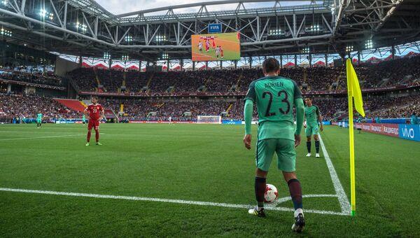 Адриен Силва во время матча Кубка конфедераций-2017 по футболу между сборными России и Португалии