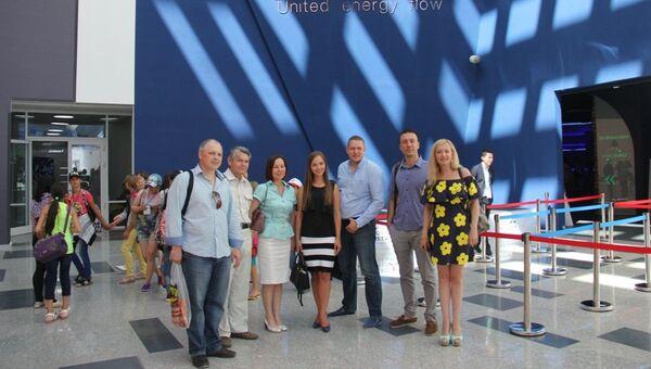 Делегация бизнесменов омской области в павильоне России на Экспо-2017 в Астане. Архивное фото