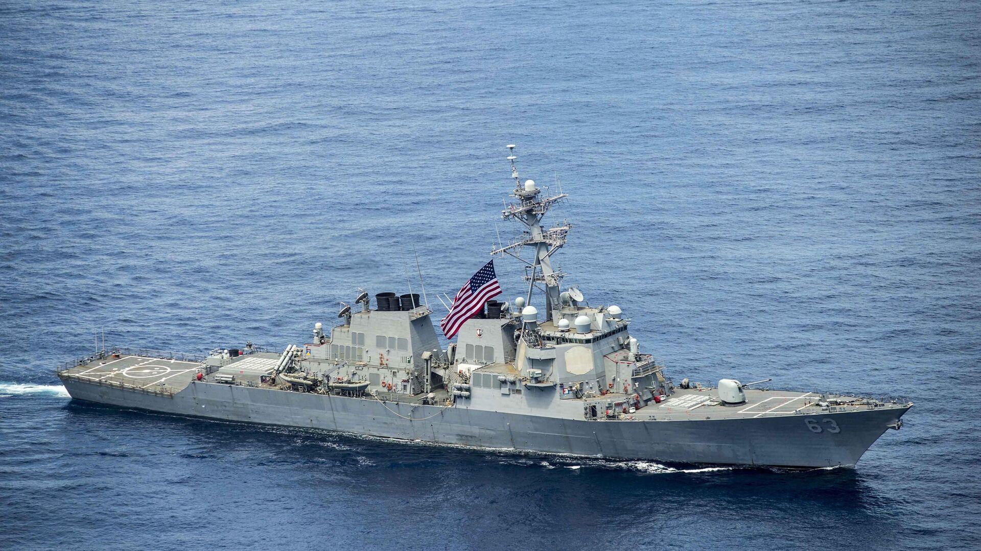 Американский эсминец USS Stethem в Южно-Китайском море - РИА Новости, 1920, 09.09.2020