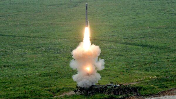 Пуск ракеты из комплекса Бастион береговых войск Тихоокеанского флота
