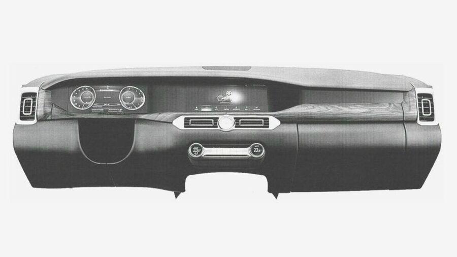 Дизайн панели приборов из проекта Кортеж