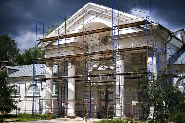 Павильон №41 во время работ по реконструкции ВДНХ