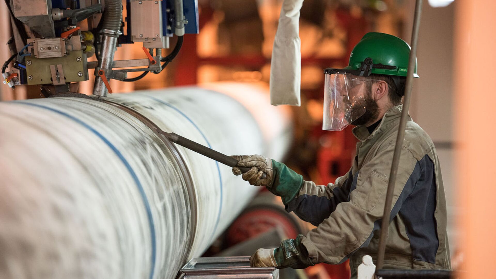 Подготовительные мероприятия к сварочным работам по строительству морского газопровода Турецкий поток - РИА Новости, 1920, 11.01.2021