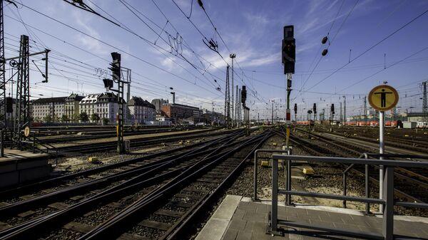 Железнодорожная станция в Германии. Архивное фото