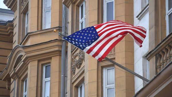 Государственный флаг США. архивное фото