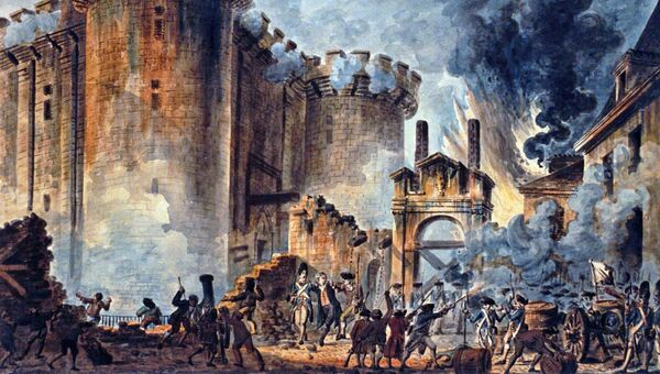 Картина Взятие Бастилии художника Жана-Пьера Уэля