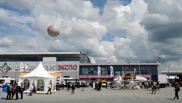 Международный выставочный центр Екатеринбург-ЭКСПО, где открылась Международная промышленная выставка Иннопром - 2017