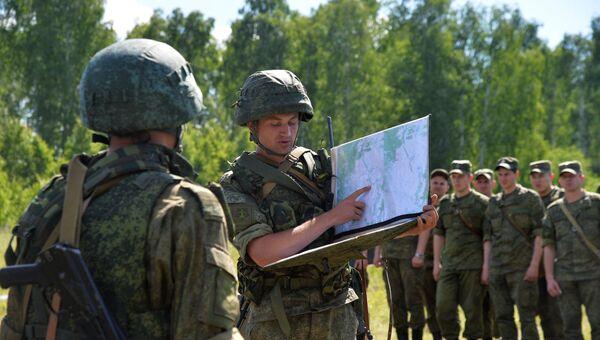 Военнослужащие во время тактико-специальных учений