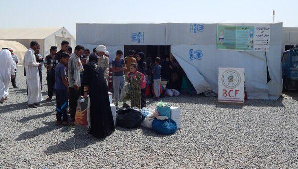 Лагерь беженцев к западу от Эрбиля