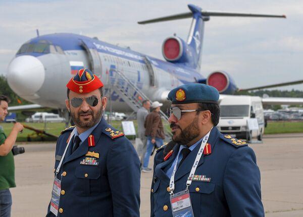 Военнослужащие из ОАЭ на открытии Международного авиационно-космического салона МАКС-2017