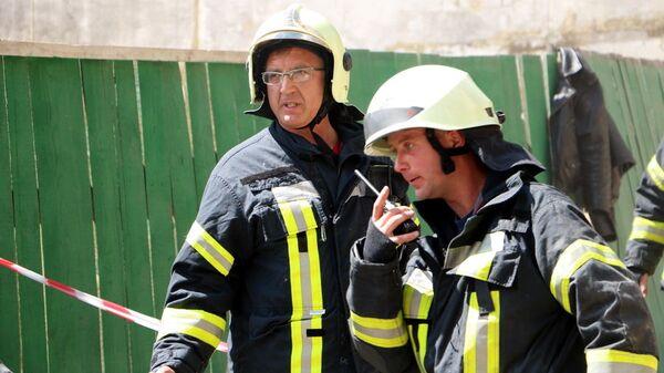 Сотрудники Госслужбы Украины по чрезвычайным ситуациям