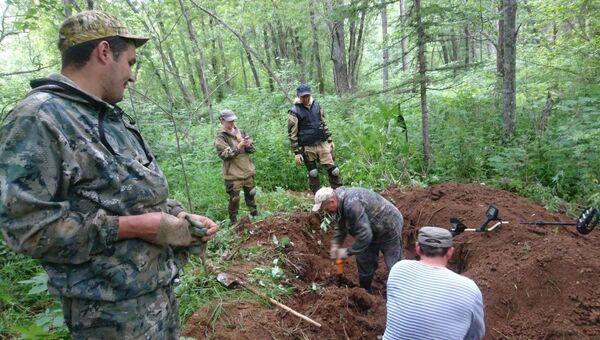 Место обнаружения останков японского солдата на Сахалине