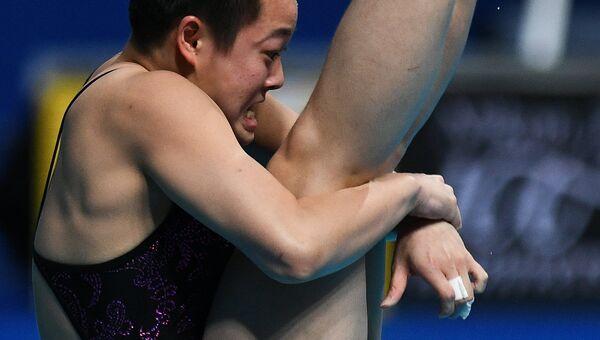 Ивэнь Чэнь (КНР) в финале командных соревнований по прыжкам в воду на чемпионате мира FINA 2017