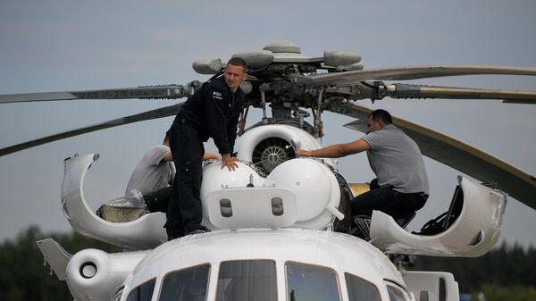 Вертолет Ми-8 на Международном авиационно-космическом салоне МАКС
