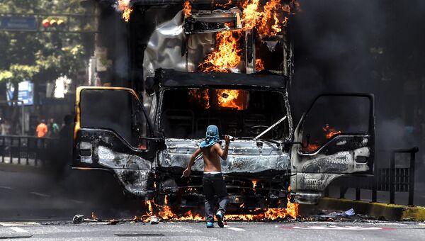Беспорядки в Каракасе. Архивное фото
