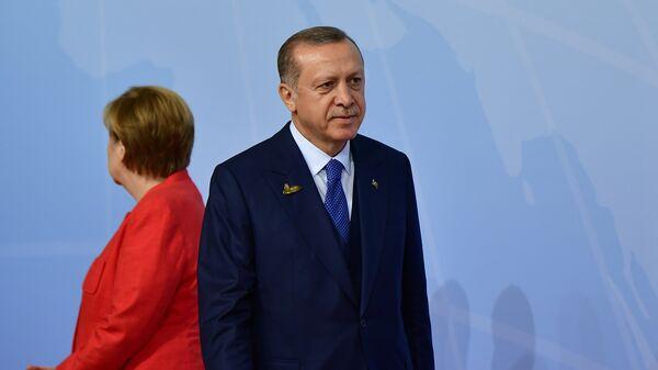 Канцлер Германии Ангела Меркель и президент Турции Реджеп Тайип Эрдоган. Архивное фото