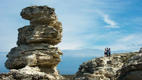 Джангульское оползневое побережье на мысе Тарханкут в Крыму