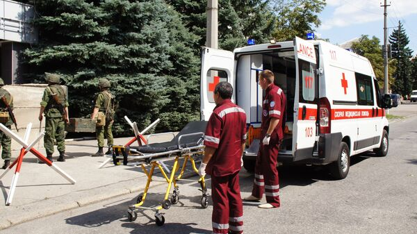 Машина скорой помощи в ЛНР