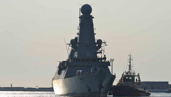 Эсминец Королевских ВМС Великобритании DUNCAN в порту Одессы. 24 июля 2017